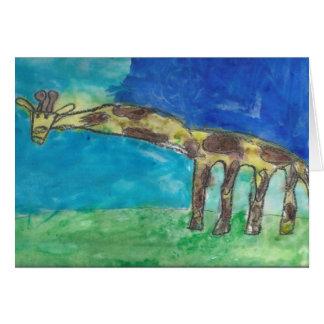 A Shy Giraffe Card