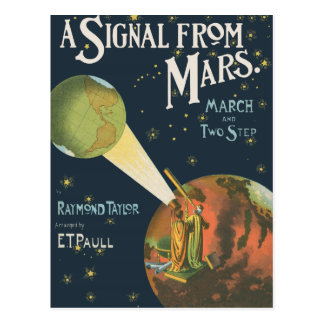 A Signal From Mars Postcard