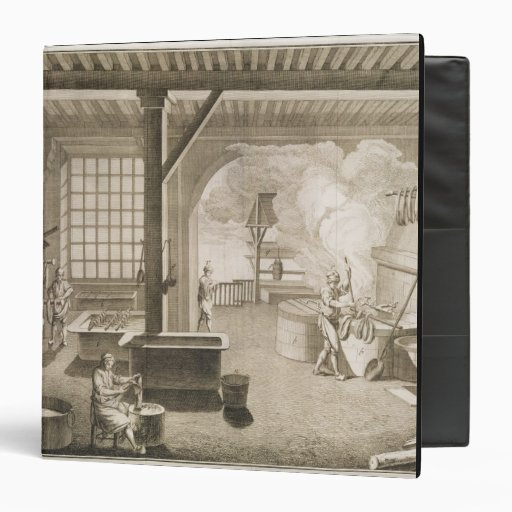 A silk dyer's workshop, from the 'Encyclopedie des Binder