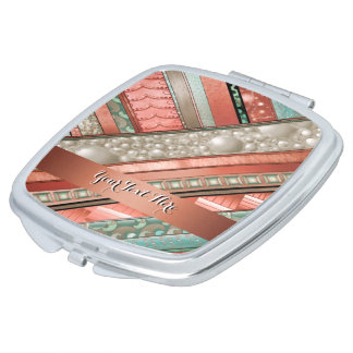 a Silken Stripes abstract-pumpkin Mirror For Makeup