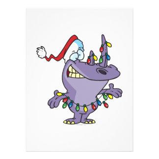 a silly cute christmas santa rhino announcements