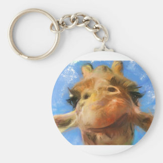 a silly face keychain