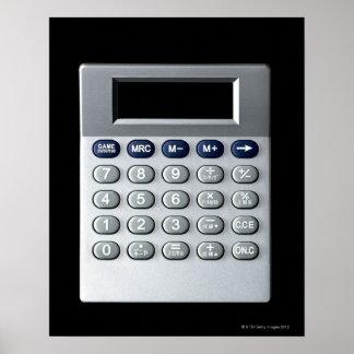 A silver calculator poster