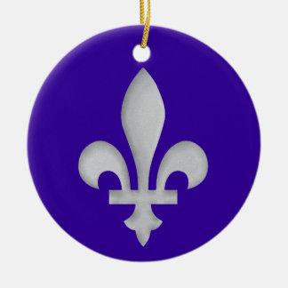 A Silver Fleur-de-lys Hanging Ornament Decoration