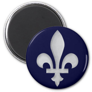 A Silver Fleur-de-lys Magnet