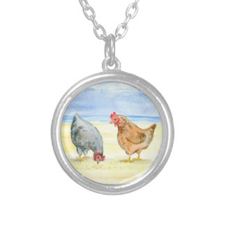 a silver plated necklace