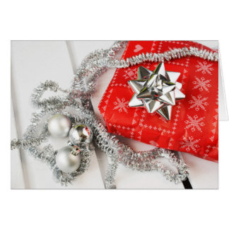 A Silver Traditional Christmas Holiday Card