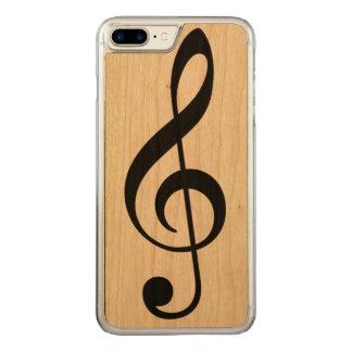 a simple black musical note (music symbol) carved iPhone 8 plus/7 plus case