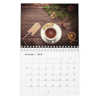 A simple life calendar, rustic and simple calendar