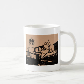 A Simple Sketch of St. Francis Basilica, Assisi Coffee Mug