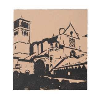 A Simple Sketch of St. Francis Basilica, Assisi Notepads