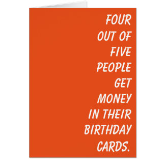 A Simply Birthday card with a little joke :)