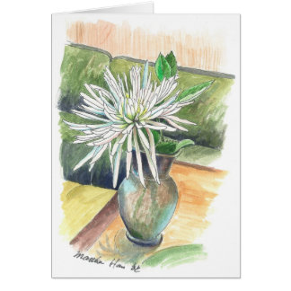 A single chrysanthemum card
