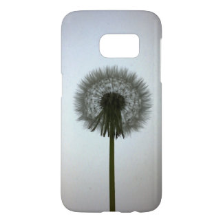 A Single Dandelion Against a White Backdrop Samsung Galaxy S7 Case