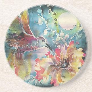 A Single Hummingbird Coaster