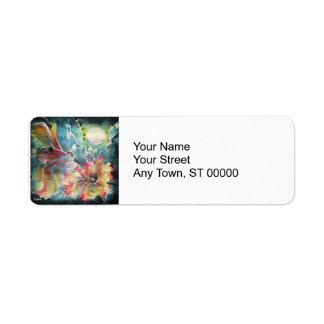 A Single Hummingbird Return Address Label