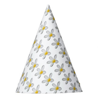 A Single Plumeria Flower Isolated Party Hat