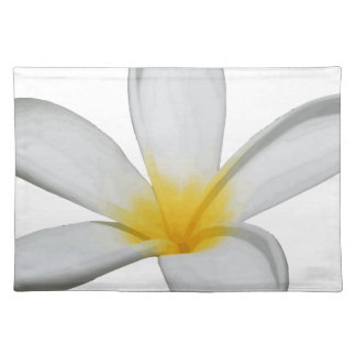 A Single Plumeria Flower Isolated Placemat