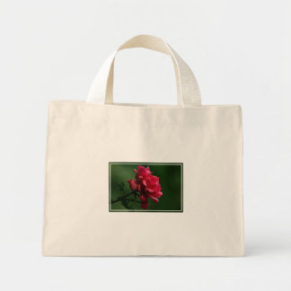 A Single Red Rose Mini Tote Bag