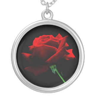 A Single Red Rose Necklace