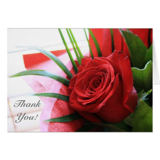 A Single Red Rose, Thank You Note Card