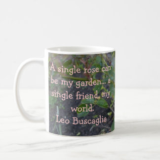 A single rose can be my garden coffee mug