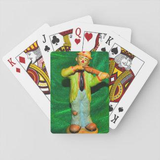 A Single Sad Clown Backround Deck of Cards