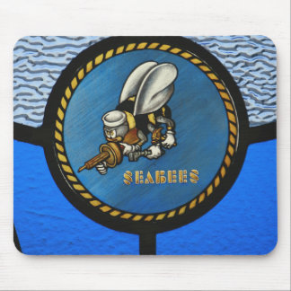 A single Seabee logo Mouse Pad