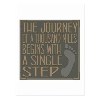A Single Step Postcard