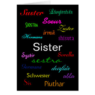 """A Sister's Birthday I"" Card - Customizable"