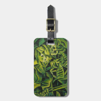 A Skeleton Embracing A Zombie Halloween Horror Luggage Tag