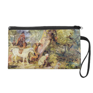 A Sketch for 'Foresters Stalking Deer' (oil over c Wristlet Clutches