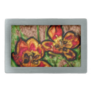 A Sketch of Tulipa Duo Rectangular Belt Buckle