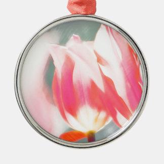 A Sketch of Tulipa Duo Silver-Colored Round Ornament