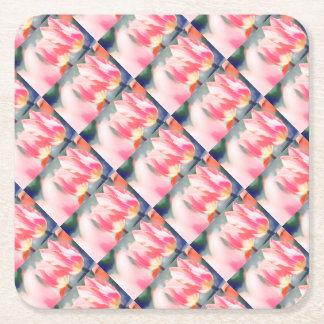 A Sketch of Tulipa Duo Square Paper Coaster