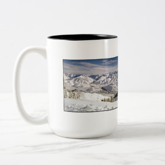 A Skiers View from the Top of Bald Mountain Two-Tone Coffee Mug