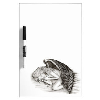 A sleeping Angel , Black and white Design Dry Erase Board