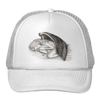 A sleeping Angel , Black and white Design Trucker Hat