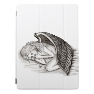 A sleeping Angel , black and white iPad Pro Cover
