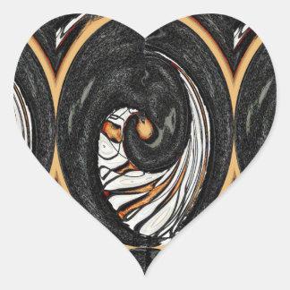 A Slice of Orange Heart Sticker