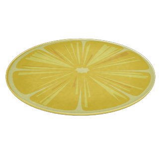 A Slice of Yellow Lemon Cutting Board