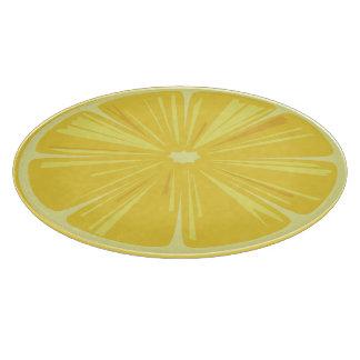 A Slice of Yellow Lemon Cutting Board