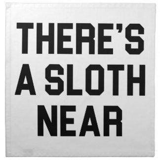 A Sloth Near Napkin