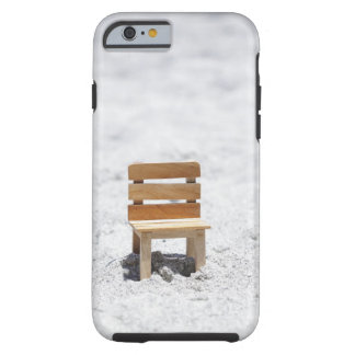 A small chair in the sandy beach tough iPhone 6 case