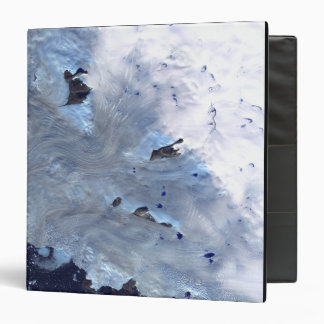 A small field of glaciers surrounds Baffin Bay Vinyl Binder
