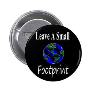 A Small Footprint Globe 2 Inch Round Button