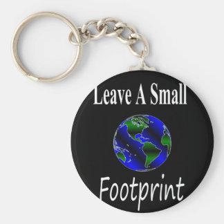A Small Footprint Globe Basic Round Button Keychain