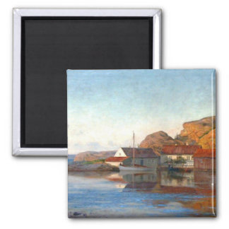 A Small Norwegian Inlet Square Magnet