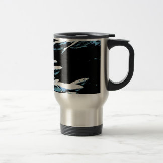 A small school of fish travel mug
