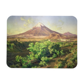 A Small Volcano in Mexican Countryside, 1887 (oil Rectangular Magnet